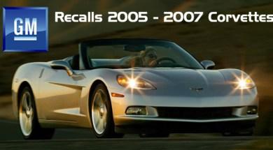GM Recalls 2005 – 2007 Corvettes