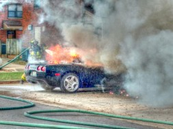 Cullman Fire Rescue Tackles Corvette Fire
