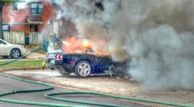 Cullman Fire Rescue Tackles Corvette Fire