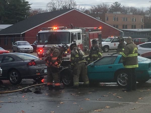 Firefighters say the 1986 Corvette is a total loss after a blaze caused by an electrical problem.