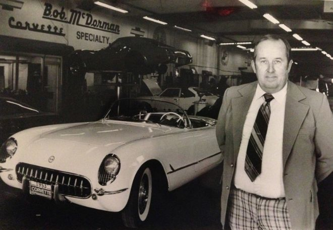 Bob McDorman in his dealership in 1983
