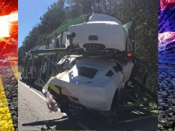 Crash near Verbena, Alabama causes delays, damages Corvettes