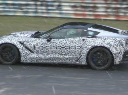 In this video you will see the new 2018 Chevrolet Corvette ZR1 testing on a wet and snowy Nurburgring Nordschleife.