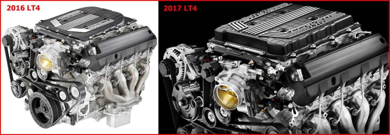 2016 - 2017 Corvette LT4 Engine Comparison