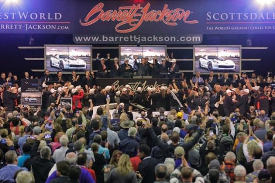 Chevrolet Corvettes Raise $2.325 Million at Barrett-Jackson to benefit Military Veterans