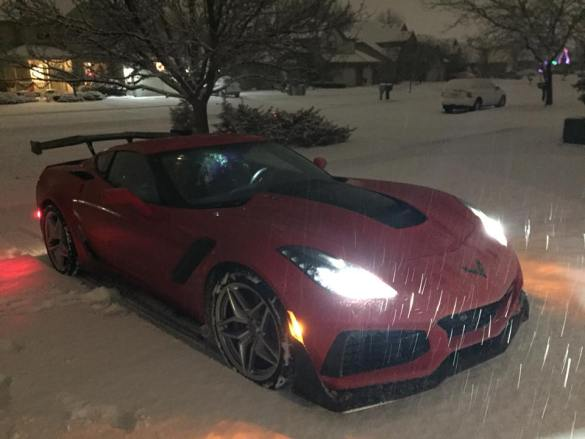 2019 Corvette ZR1 driven by Harlan Charles in Michigan.