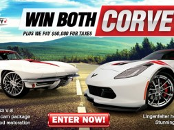 Enter now for a chance to win both Corvettes!