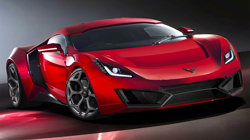 2020 Corvette Mid Engine Prototype Tries To Evade A
