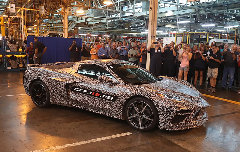 2020 C8 Corvette at the Bowling Green Corvette Assembly Plant.  Photo:  Buffalo News