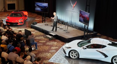 Tom Peters with Two 2020 C8 Corvettes