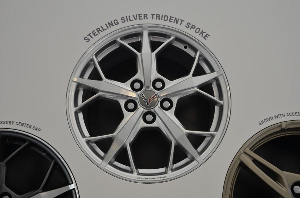 2020 C8 Corvette Sterling Silver Trident Spoke Wheel