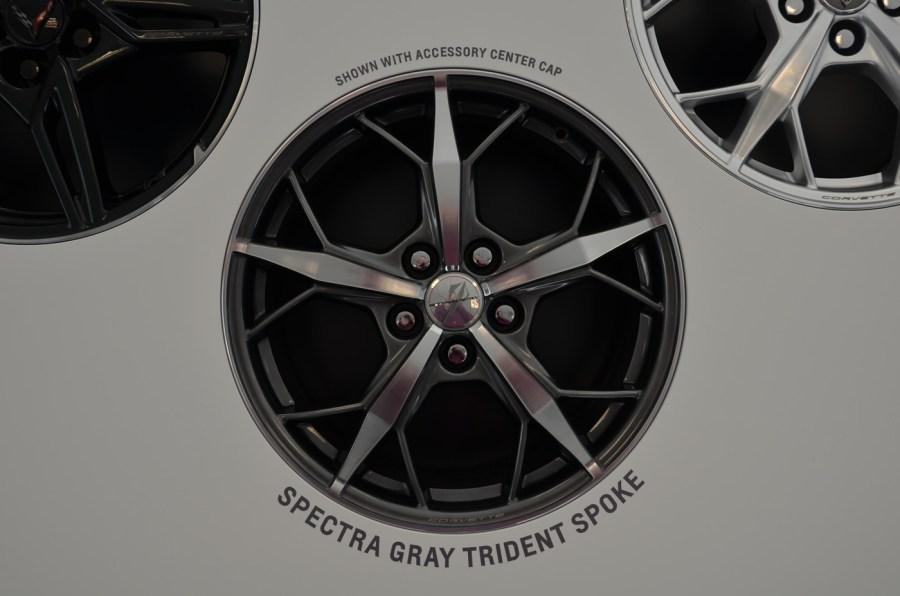 2020 C8 Corvette Spectra Gray Trident Spoke Wheel