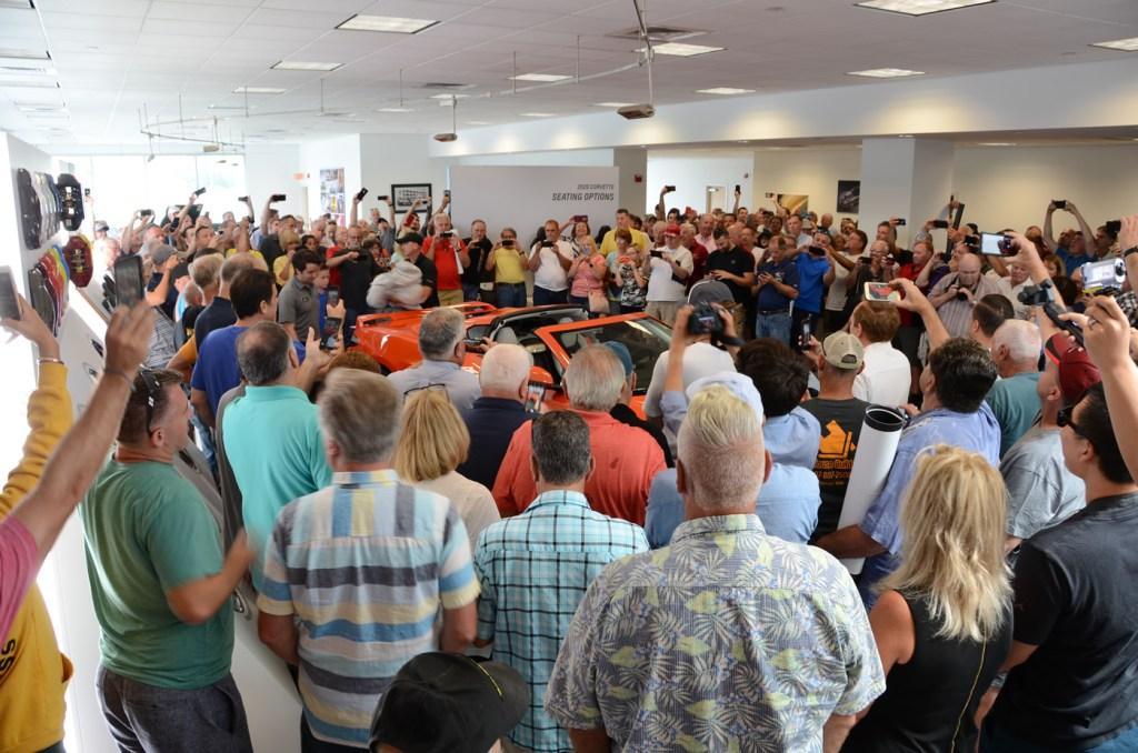 2020 C8 Corvette Unveiling Crowd