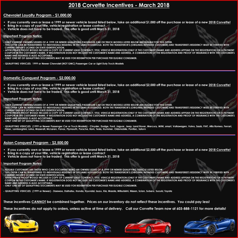 Corvette Incentives