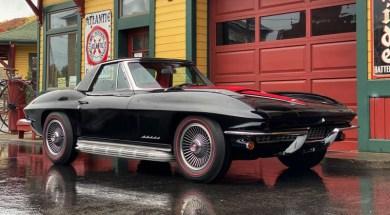 1967 Corvette Big Block in Tuxedo Black with Red Interior – File Photo