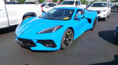 2020 Corvette in Rapid Blue
