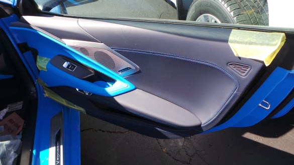 2020 Corvette in Rapid Blue with Tension Blue Dipped Interior