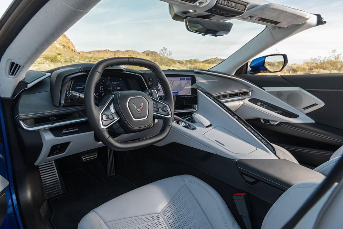 2020 Corvette with Sky Cool Gray interior