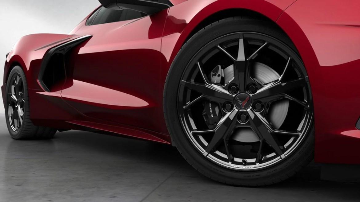 2021 Corvette with Black Trident Wheels