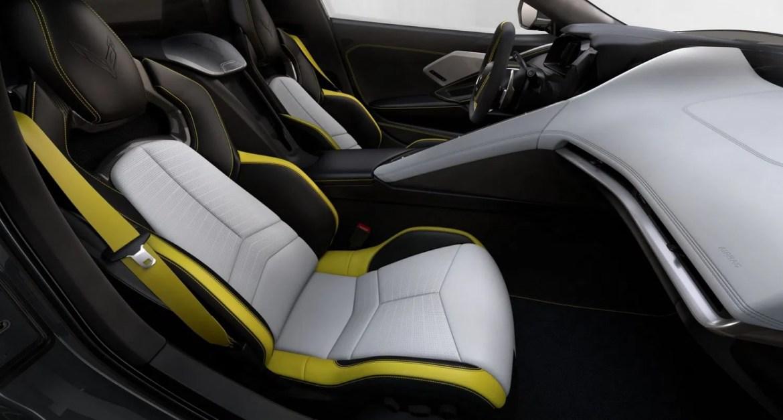 2021 Corvette Sky Cool Gray/Strike Yellow Interior