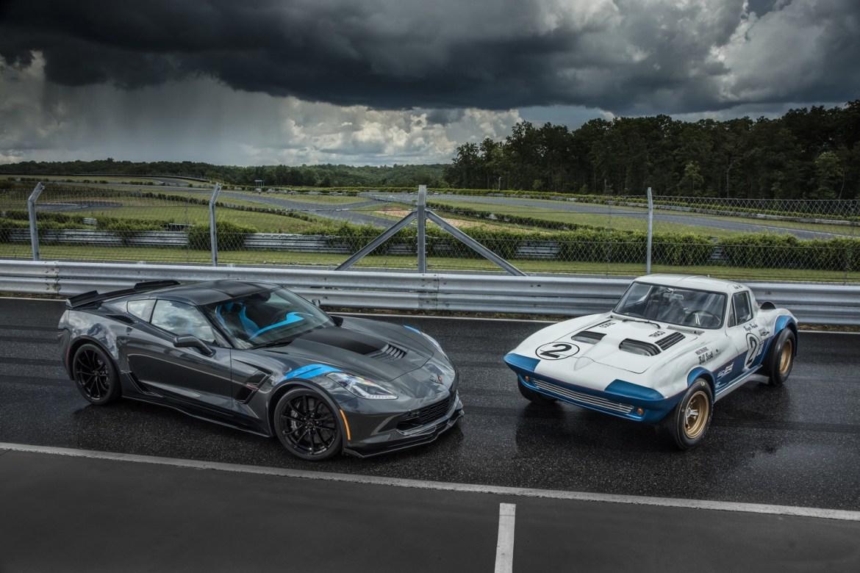 2017 Corvette Grand Sport With a 1963 Corvette Grand Sport