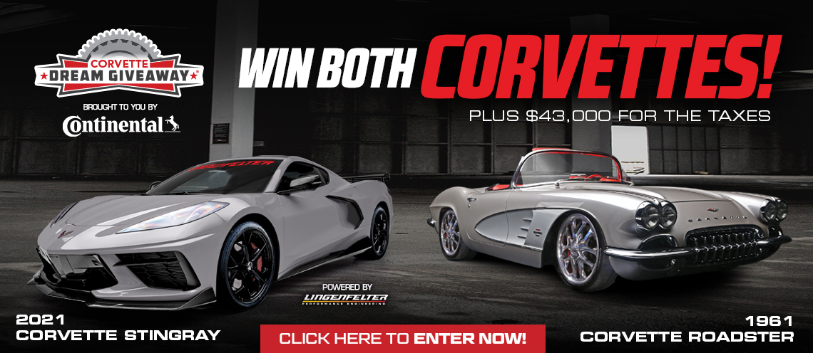 2021 and 1961 Corvette Dream Giveaway