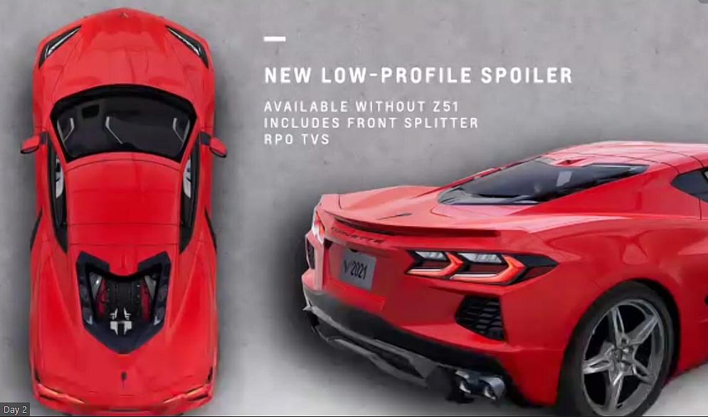 2022 Corvette Low Profile Spoiler Option