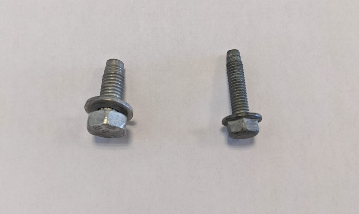Loose bolts - engine comparts of a 2021 Corvette