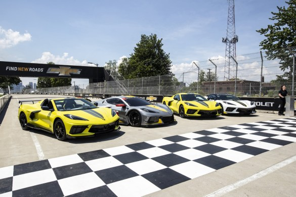 Chevrolet reveals the 2022 Corvette Stingray IMSA GTLM Championship Edition alongside Corvette Racing, Wednesday, June 9, 2021 at the Raceway at Belle Isle Park, site of this weekend's Chevrolet Detroit Grand Prix in Detroit, Michigan. Closed course. Preproduction model shown. Actual production model may vary. Available late summer 2021. (Photo by Richard Prince for Chevrolet)