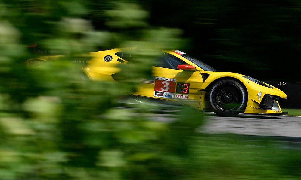 Jordan Taylor claimed the overall pole position for the Northeast Grand Prix at Lime Rock Park on Friday to lead a 1-2 result for Corvette Racing.