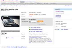 eBay Ad for 2014 C7 Corvette Removed