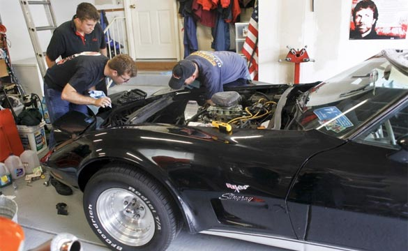 Father and Son Work Together to Restore a 1977 Corvette