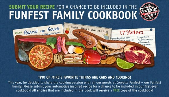 Submit your Recipes for Mid America Motorworks FunFest Corvette Cookbook
