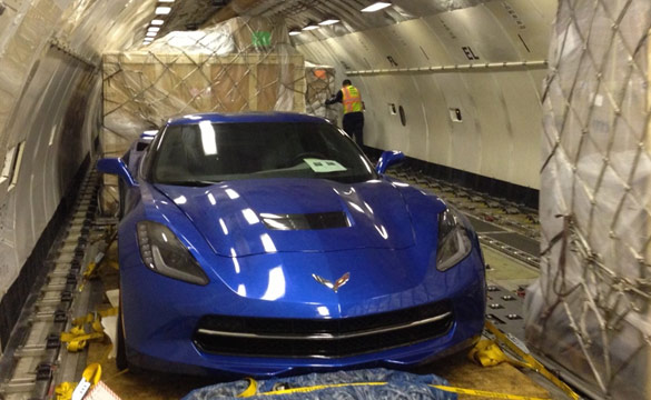 [VIDEO] Europe-Bound 2014 Corvette Stingray Loaded onto a Jet Airliner