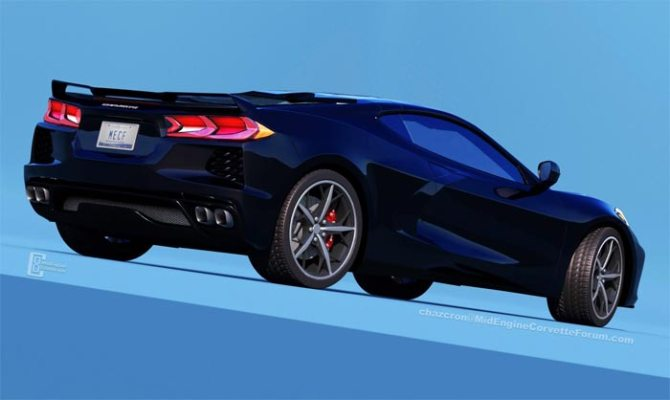 C8 Mid-Engine Corvette Rendered by Chazcron