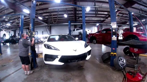 [VIDEO] Watch a Time Lapse Video of a C8 Corvette Going Through PDI at a Chevy Dealership