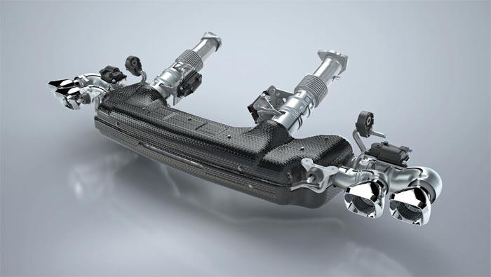 c8 corvette exhaust system detailed