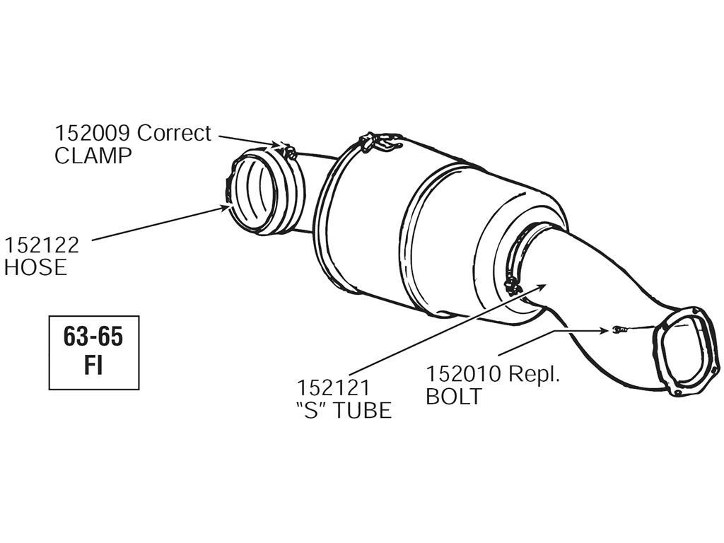 63 65 Air Cleaner Tube Mount Bolt