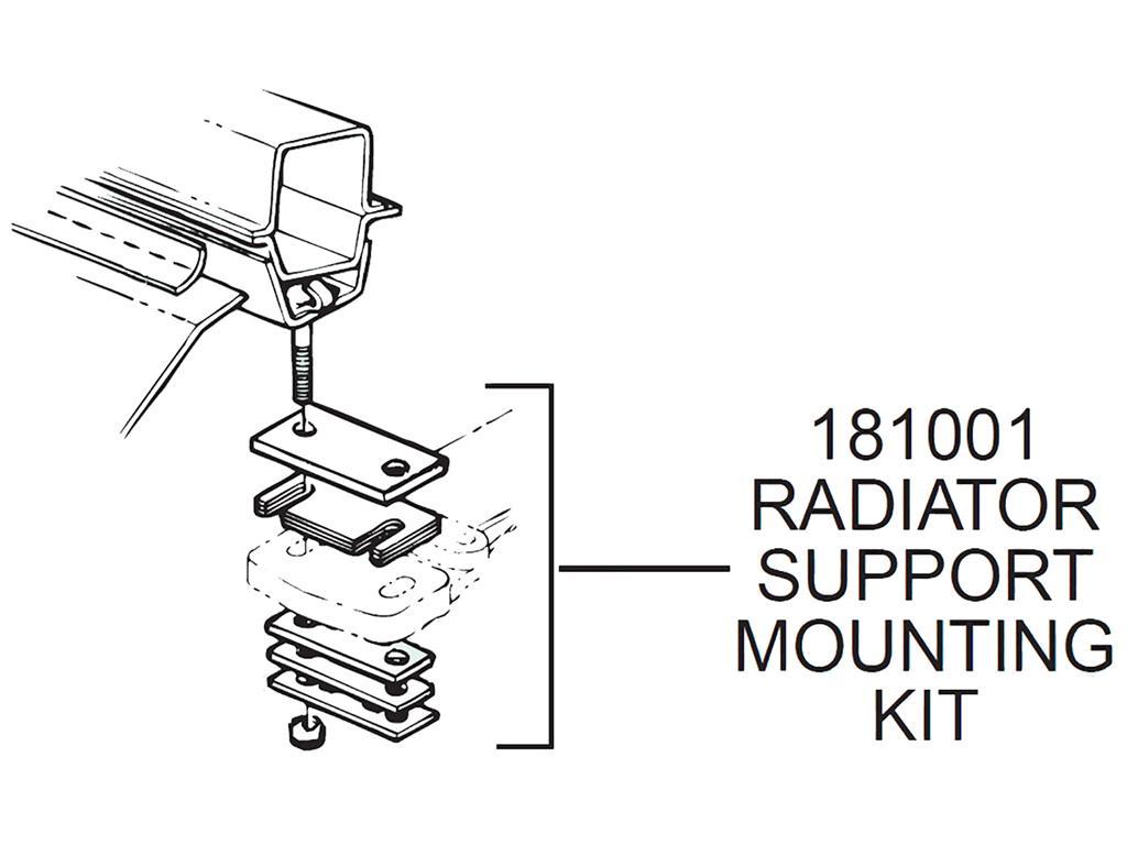 53 62 Radiator Support Mounting Kit
