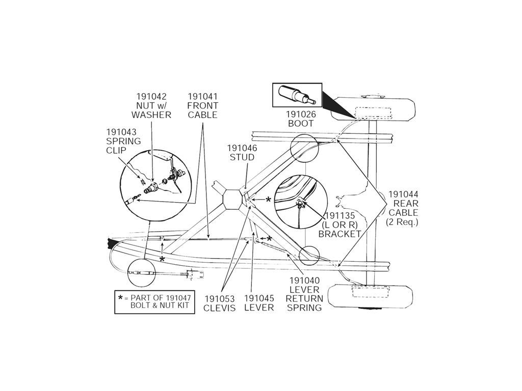 53 62 Parking Emergency Brake Cable Clip