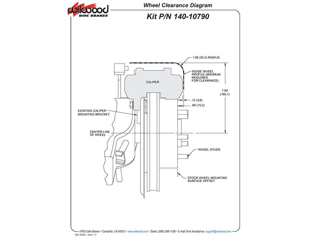 65 82 Wilwood Direct Fit Aluminum Brake Caliper Set
