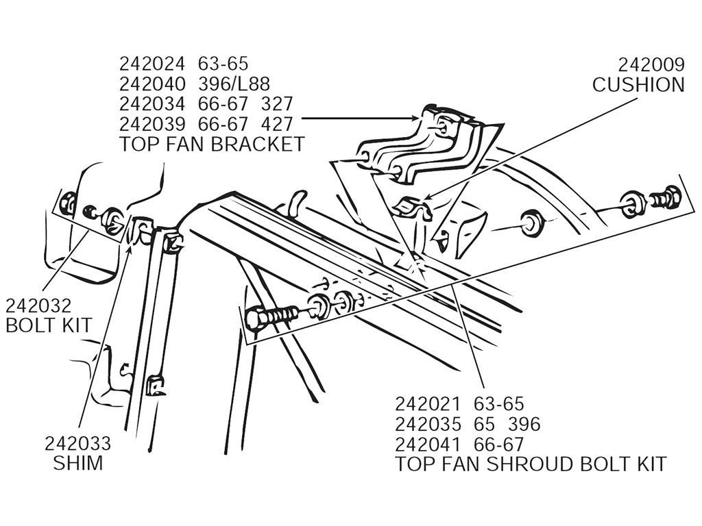 63 72 Upper Radiator Mount Cushion