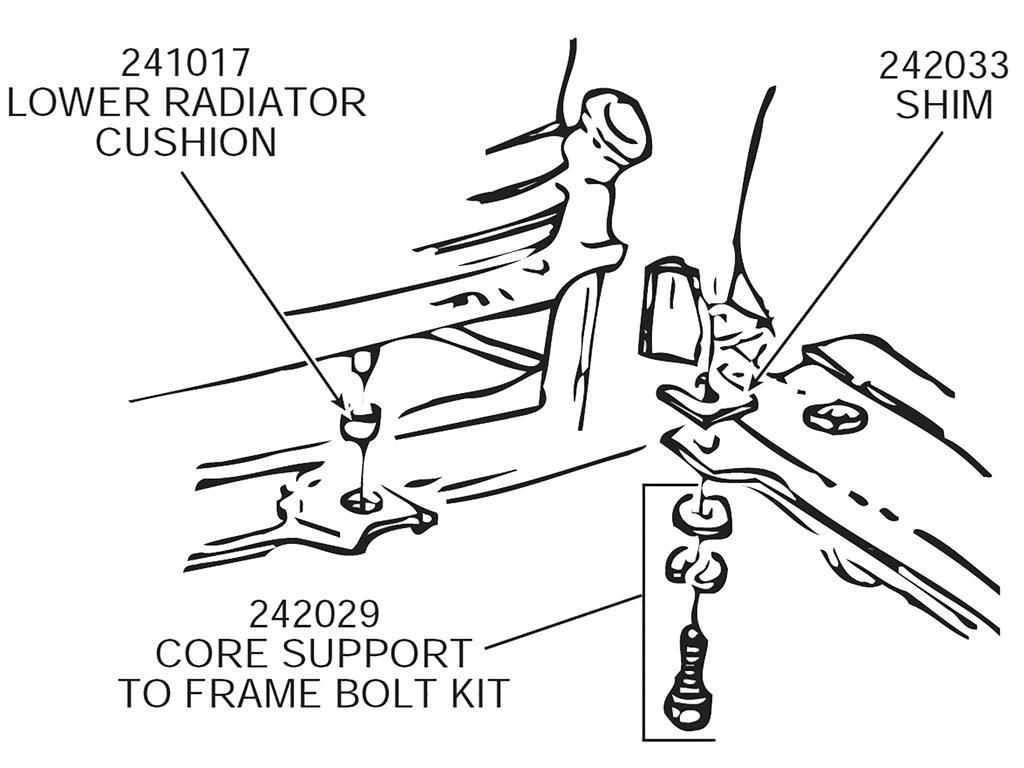 63 82 Radiator Core Support Bolt