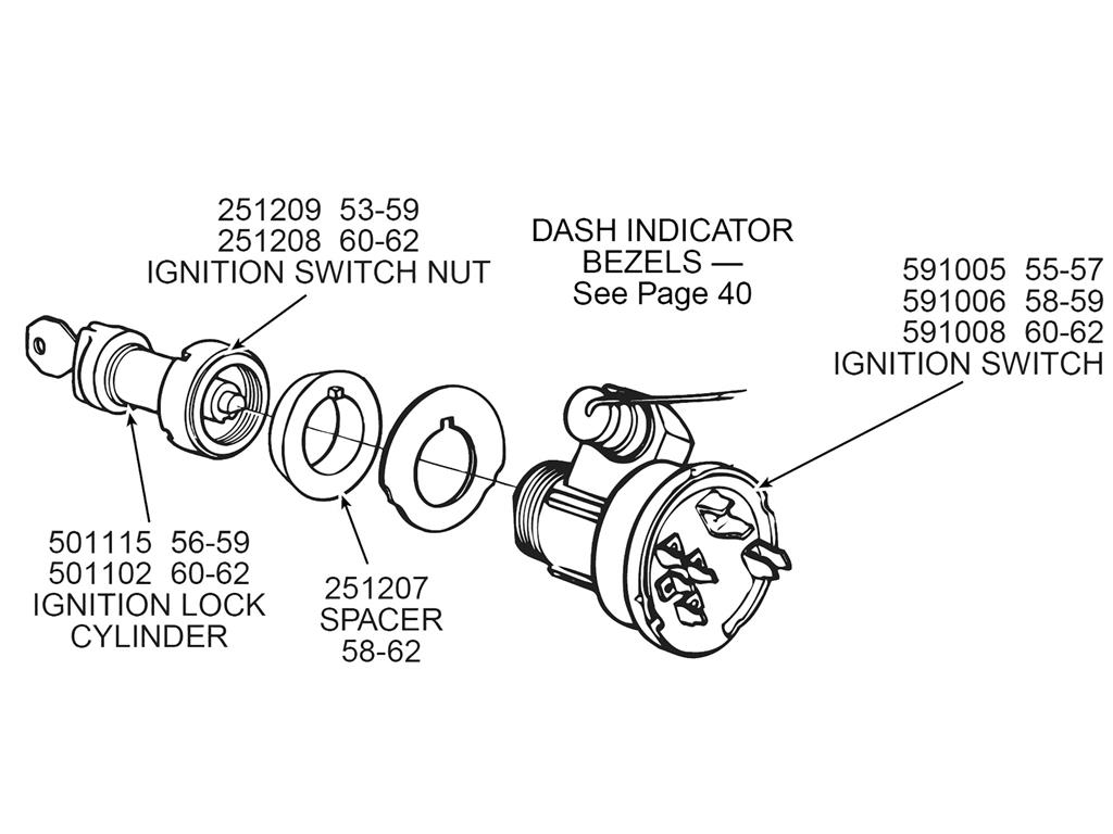 58 62 Ignition Switch Spacer