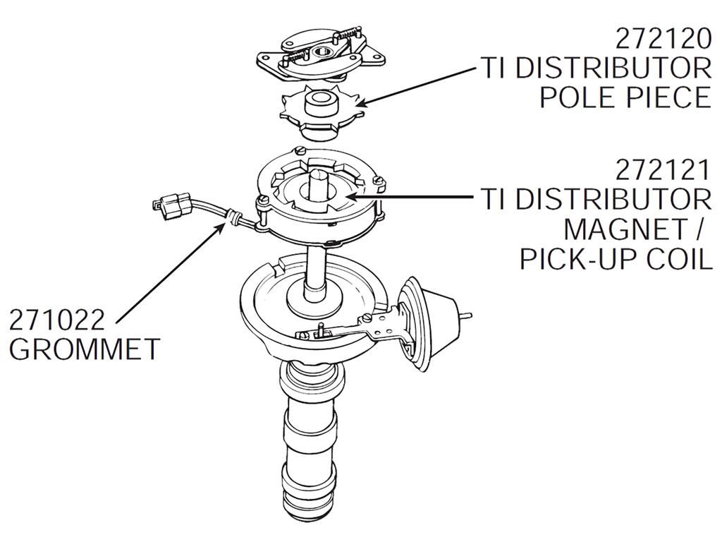64 71 Transistor Ignition Distributor Pole Piece