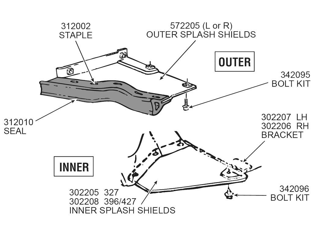 63 79 Splash Shield Weatherstrip Seal