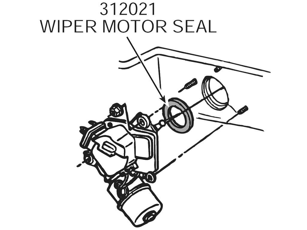 63 96 Windshield Wiper Motor Gasket To Firewall
