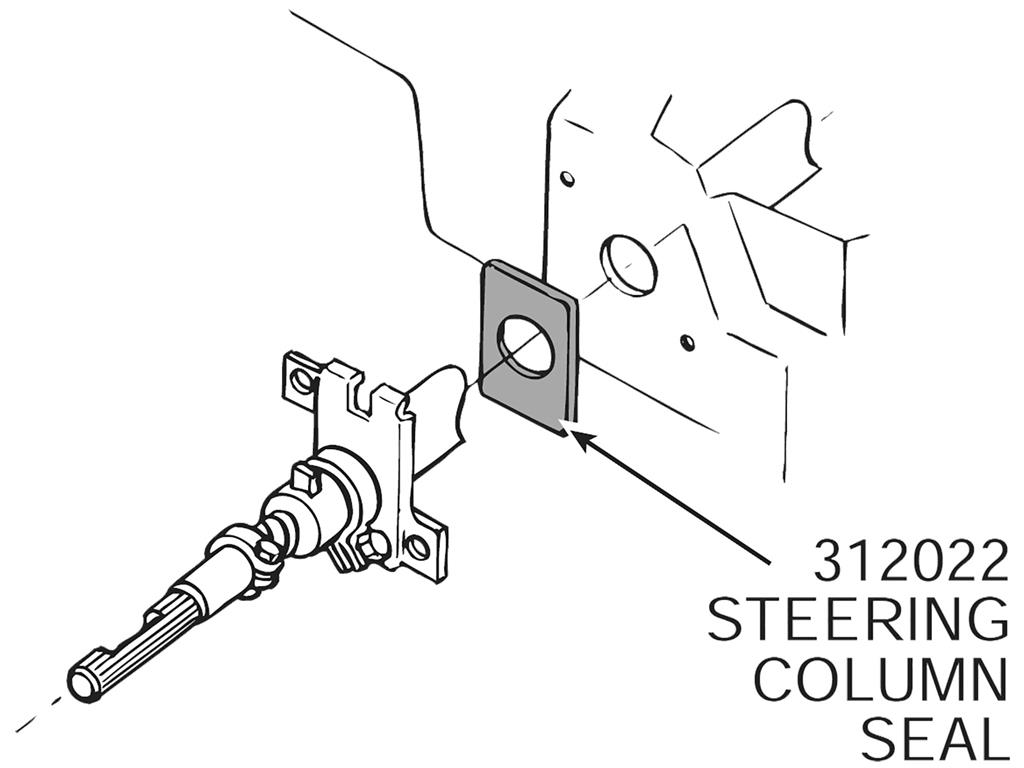 63 67 Steering Column Seal