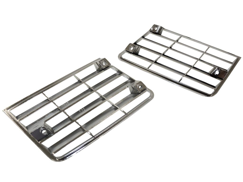 80 82 Chrome Side Fender Vent Louver Grilles