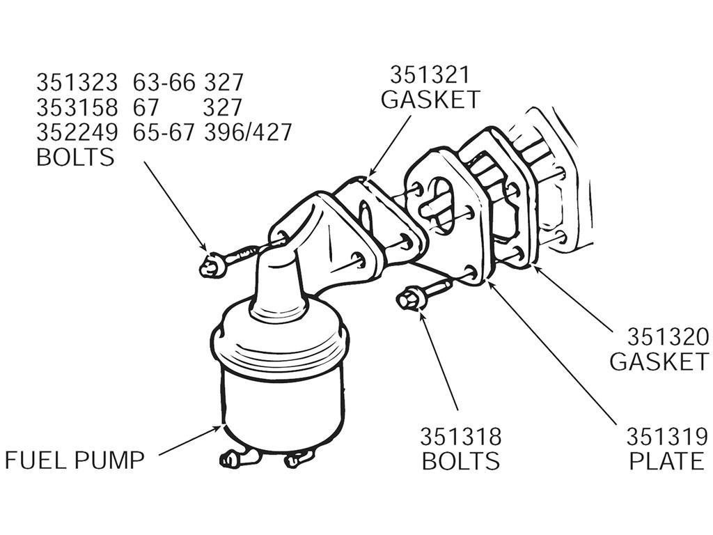 55 81 Fuel Pump Mount Plate